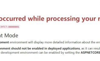 .net core iis部署An error occurred while processing your request