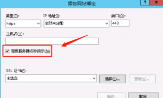 IIS配置证书https域名证书ssl配置及绑定
